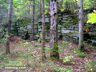 New Hampshire Limestone Kilns along the trail on Black Mountain